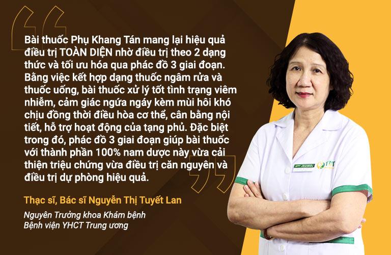 Ths.BS Nguyễn Thị Tuyết Lan nói về phác đồ Phụ Khang Tán