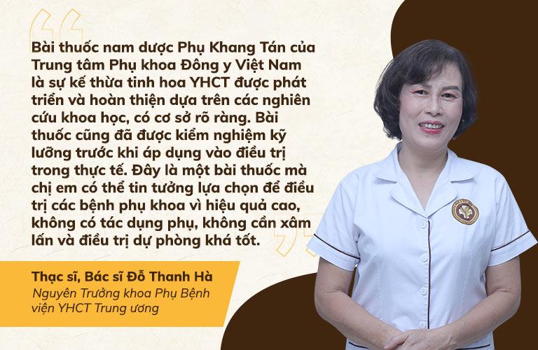 Bác sĩ Thanh Hà đánh giá cao cơ sở khoa học của Phụ Khang Tán