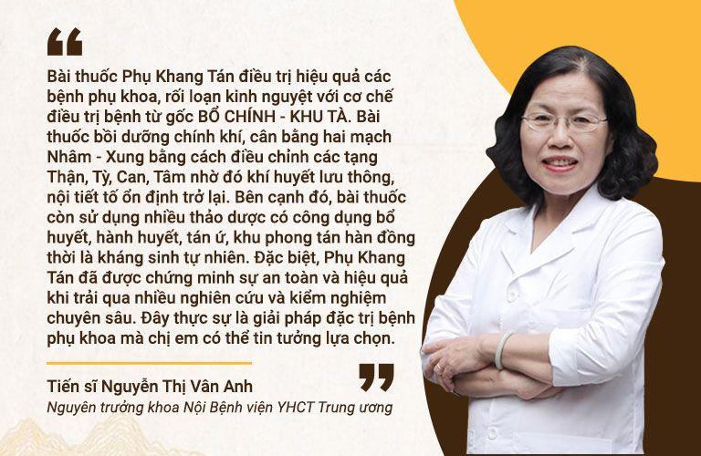 Bác sĩ Vân Anh nhận định về Phụ Khang Tán